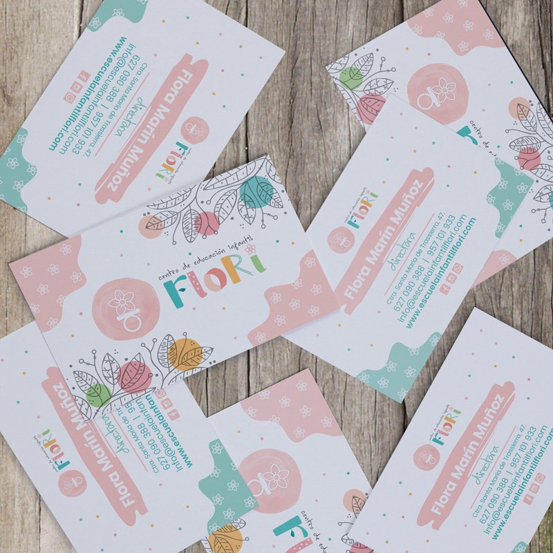 Tarjetas eScuela Infantil Flori